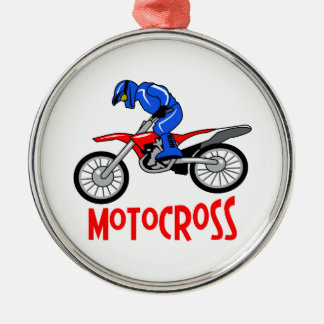 Motocross Metal Ornament