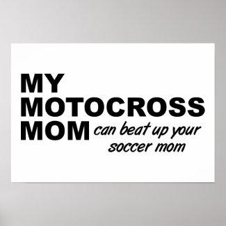 Motocross Mom Funny Poster