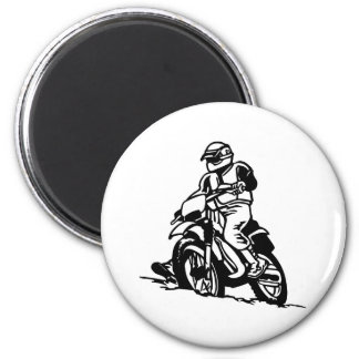 Motocross Motorcycle 2 Inch Round Magnet