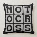 Motocross, Motorcycle Sport Pillow