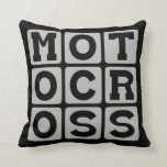 Motocross, Motorcycle Sport Throw Pillow
