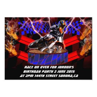 Motocross mufflers shooting fire card