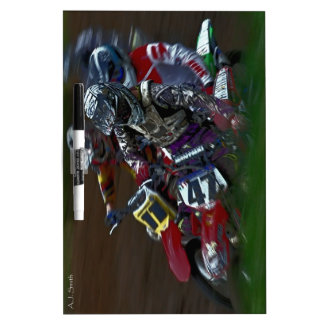 Motocross MX Hole Shot Hustle Dry Erase Board