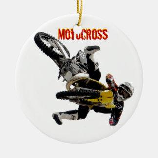 Motocross Ornament, Copyright Karen J Williams Ceramic Ornament