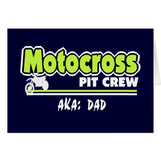 Motocross Pit Crew Dad Card