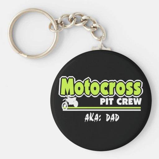 Motocross Pit Crew Dad Key Chains