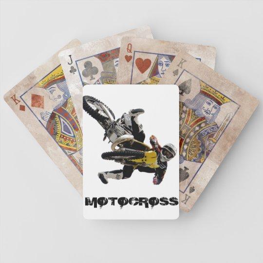 Motocross Playing card, Copyright Karen J Williams Bicycle Playing Cards