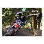 Motocross racer birthday card