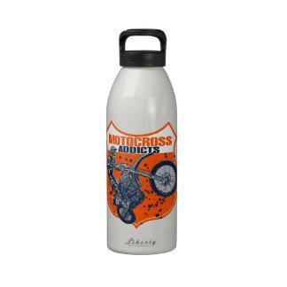 Motocross racer reusable water bottles