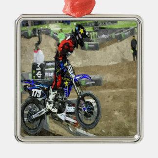 Motocross Racing Metal Ornament