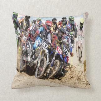 Motocross Racing Throw Pillow