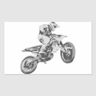 Motocross Rectangular Sticker