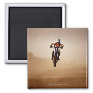 Motocross Rider 2 Inch Square Magnet