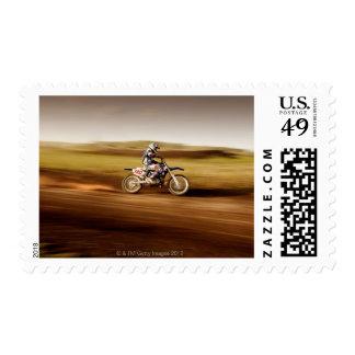 Motocross Rider 2 Postage Stamp