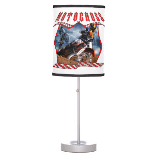 Motocross rider and lightning lamp