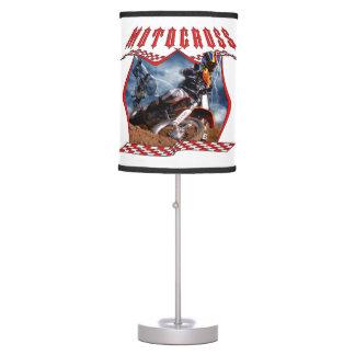 Motocross rider and lightning table lamp