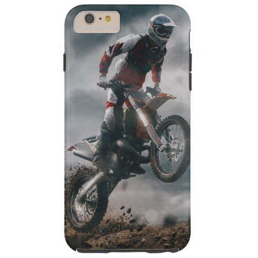 Motocross Rider Tough iPhone 6 Plus Case