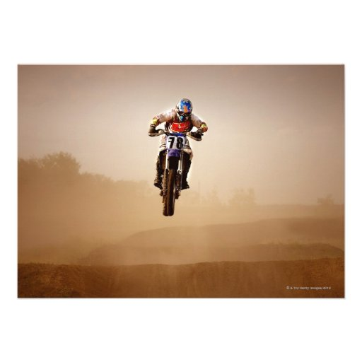 Motocross Rider Invitations