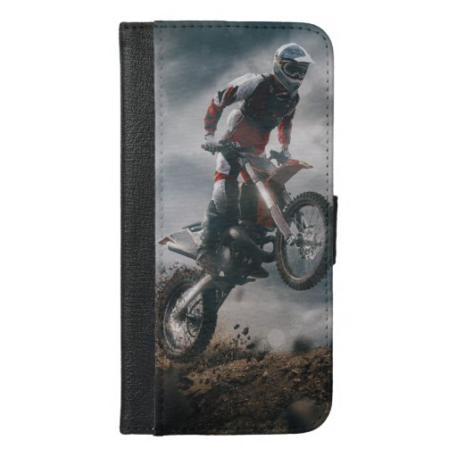 Motocross rider iPhone 6/6s plus wallet case