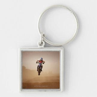Motocross Rider Keychain