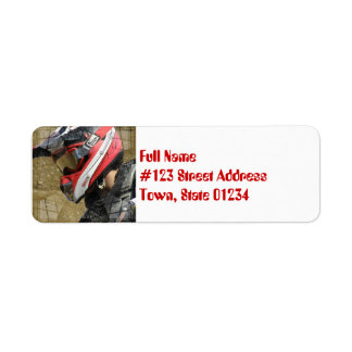 Motocross Rider Mailing Labels