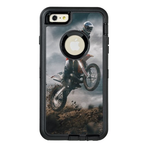 Motocross rider OtterBox defender iPhone case
