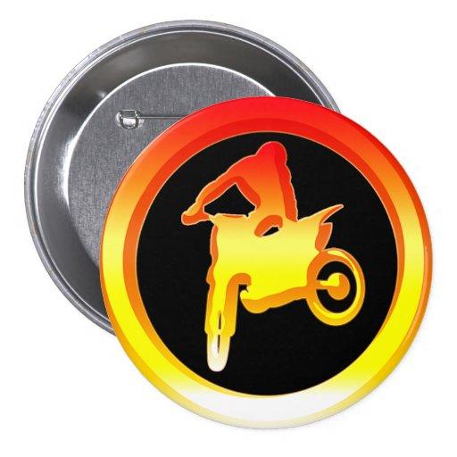 Motocross Rider Pin