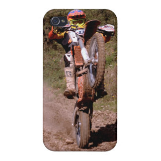 Motocross rider popping a wheelie iphone case