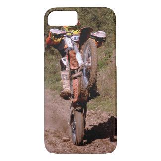 Motocross rider pops a wheelie. iPhone 8/7 case