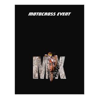 Motocross rider shattering the rock mx flyer