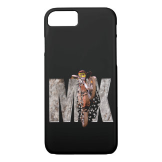 Motocross rider shattering the rock mx iPhone 8/7 case