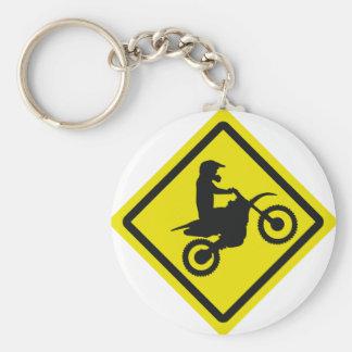 motocross roadsign keychain
