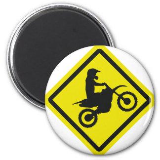 motocross roadsign magnet