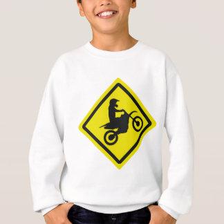 motocross roadsign sweatshirt