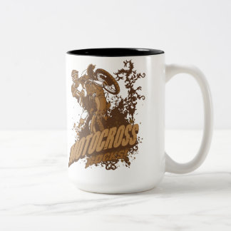 Motocross Rocks! Two-Tone Coffee Mug
