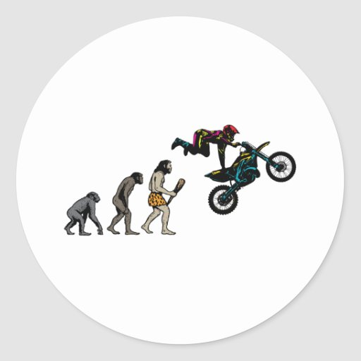 Motocross Round Sticker