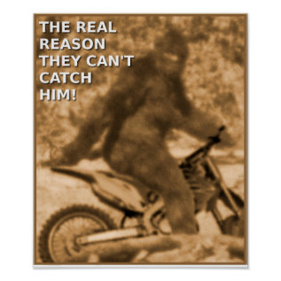 Motocross Sasquatch Dirt Bike Big Foot Funny Poste Poster at Zazzle