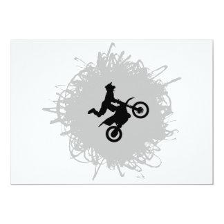 Motocross Scribble Style Card