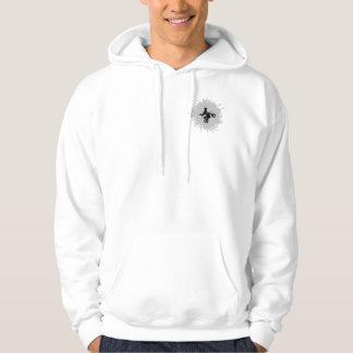 Motocross Scribble Style Hooded Sweatshirt