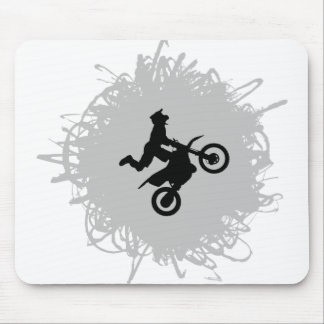 Motocross Scribble Style Mouse Pad