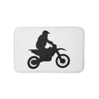 Motocross Silhouette Bathroom Mat