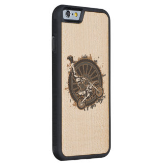Motocross Stunt Carved® Maple iPhone 6 Bumper Case