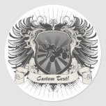 Motocross Stunt Crest Stickers