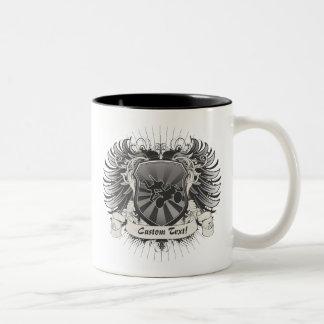 Motocross Stunt Crest Two-Tone Coffee Mug