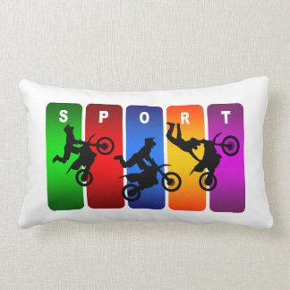 Motocross Super Cool Sport Design Throw Pillow
