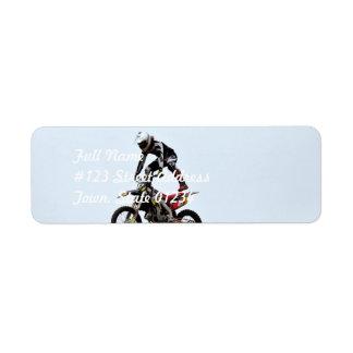 Motocross Tricks Custom Return Address Label