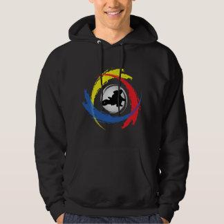 Motocross Tricolor Emblem Sweatshirt