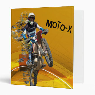 Motocross Wheelie in Pieces Abstract Desert Text Binder