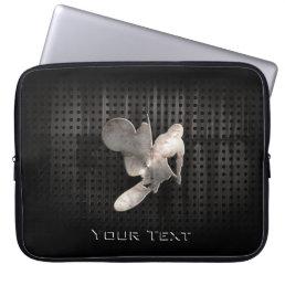 Motocross Whip; Cool Black Laptop Sleeve