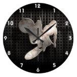 Motocross Whip; Cool Black Large Clock
